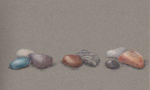stenen natuur potlood tekening natuurgetrouw