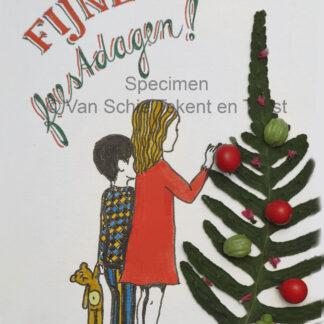 kaart kerstkaart feestdagen kinderen