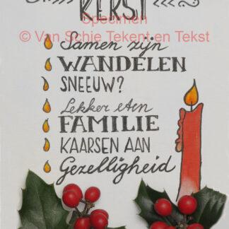 kerst kerstkaart kaart