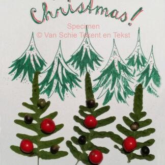 kerstkaart kaart merry christmas