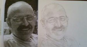 portret portrait potloodtekening handgetekend handdrawn drawing