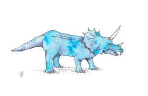 Dinosaurus Dino Dinosaur postcard ansichtkaart dinokaarten dinokaart dinosauruskaart dinosauruskaarten triceratops
