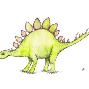 Dinosaurus dinosaur ansichtkaart postcard stegosaurus stegosaur