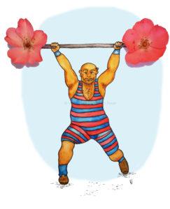 Circus artist circusartiest nostalgisch nostalgic weightlifter gewichtheffer