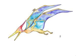 Pteranodon Dinosaurus Dino Dinosaur postcard ansichtkaart dinokaarten dinokaart dinosauruskaart dinosauruskaarten