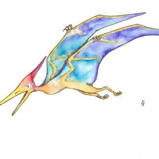 Dinosaurus dinosaur flying pteranodon