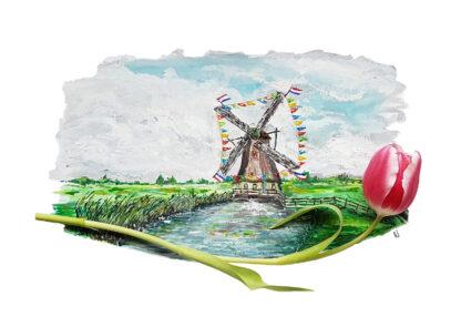 tulip yulp molen windmolen windmill typical dutch hollands