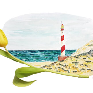 tulip tulp vuurtoren lighthouse ansichtkaarte typical dutch hollands kaart postcard