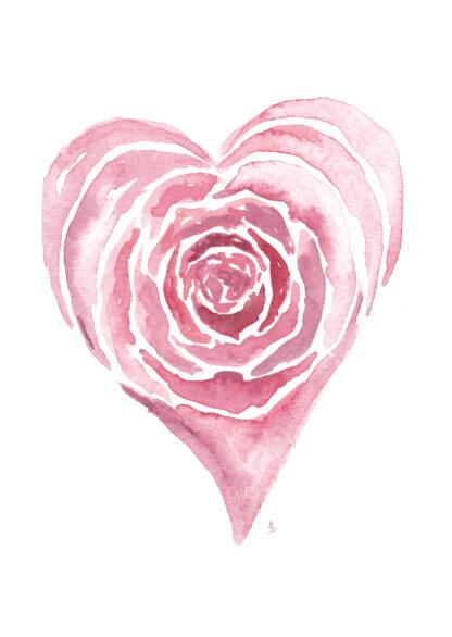 Roos rose love liefde ansichtkaart postcard valentijn valentine hart heart