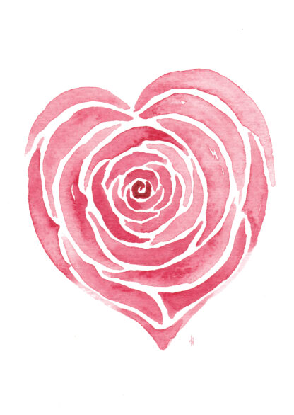 Rozen roses Roos rose love liefde ansichtkaart postcard valentijn valentine hart heart