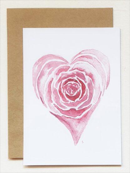 roos rose liefde love ansichtkaart postcard