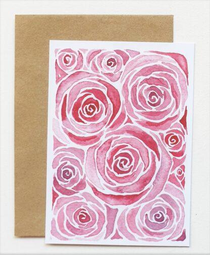 roos rose postcard ansichtkaart liefde love