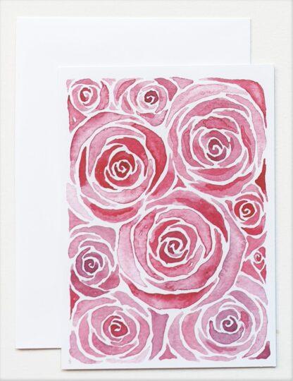 roos rose love liefde ansichtkaart postcard