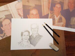portret portrait opdracht commission drawing portrettekening