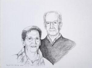 portrettekening portret portrait opdracht commission drawing