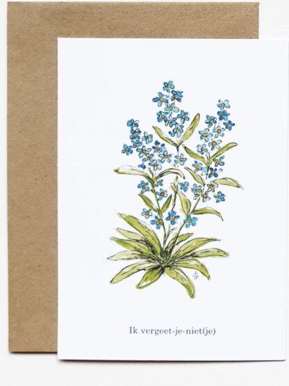 forget-me-not vergeetmenietje ansichtkaart postcard